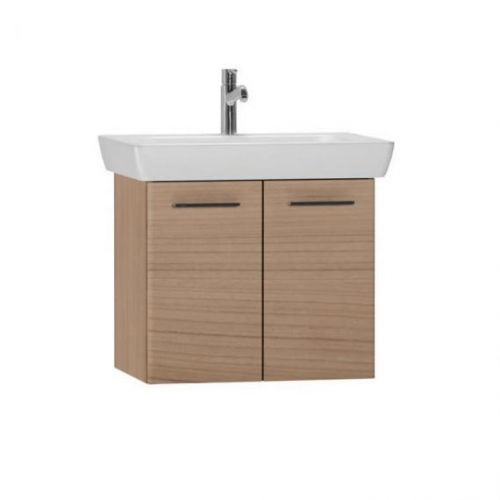 Vitra S20 650mm Wall Mounted Vanity Unit & Basin - Golden Cherry (10520)