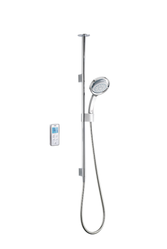 Mira Vision BIV High Pressure Ceiling Fed Digital Shower - White/Chrome (10811)