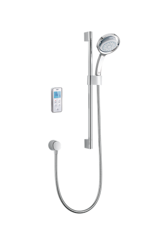 Mira Vision BIV Rear Fed Digital Shower Pumped for Gravity - White/Chrome (10813)