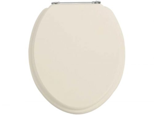 Heritage Soft Close WC Seat With Chrome Finish Hinges - Oyster (11522)