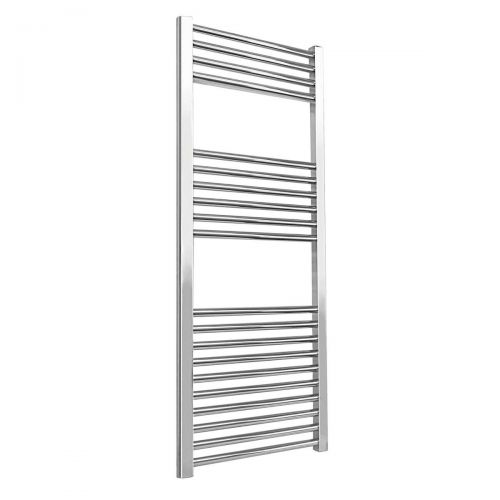 Essentials 1200 x 500mm Straight Heated Towel Rail - Chrome (9820)