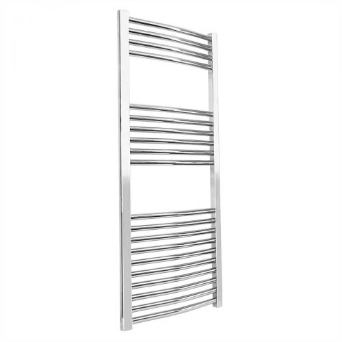 ER25 Curved 1200 x 600mm Heated Towel Rail - Chrome (12264)
