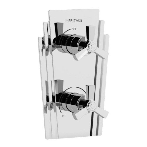 Heritage Gracechurch Recessed Shower Valve with Integral Two Outlet Diverter (12665)