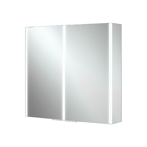 Cassio 600 x 700 x 130mm LED 2 Door Mirrored Cabinet (12882)