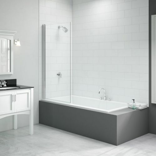 Merlyn Single Fixed Square Bath Screen (13673)