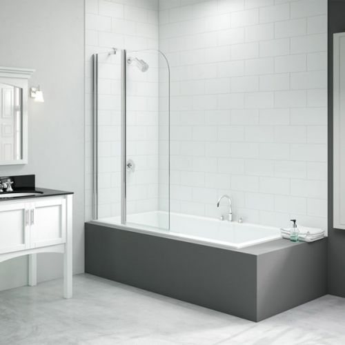 Merlyn Two Panel Curved Folding Bath Screen (13683)