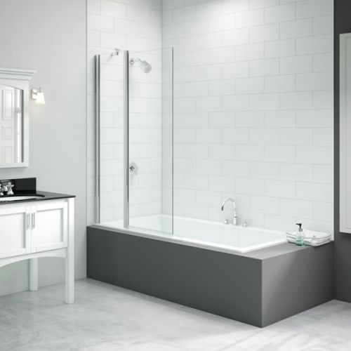 Merlyn Two Panel Square Folding Bath Screen (13684)