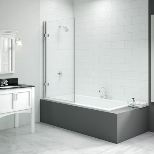 Merlyn Hinged Square Bath Screen (13687)