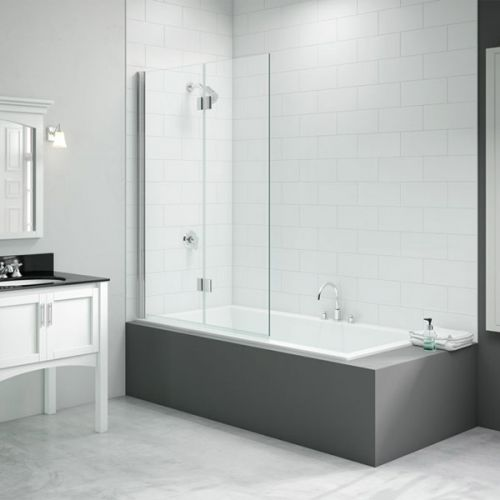 Merlyn Two Panel Hinged Bath Screen - Right Hand (13689)