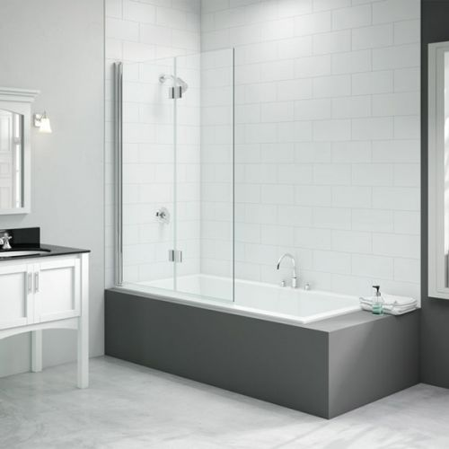 Merlyn Two Panel Folding Hinged Bath Screen (13690)