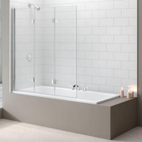 Merlyn Three Panel Folding Hinged Bath Screen (13691)