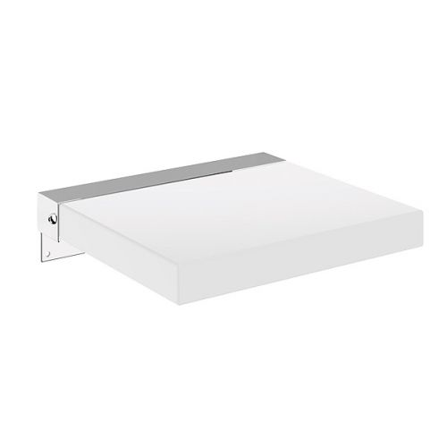 Moods Bathrooms to Love Square Padded Shower Seat - White - 13698