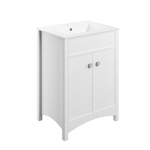 Moods Bathrooms to Love Lucia 610mm Vanity Unit & Basin - Satin White (13711)