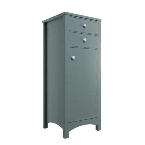Moods Bathrooms to Love Lucia Tall Storage Unit - Sea Green Ash (13714)
