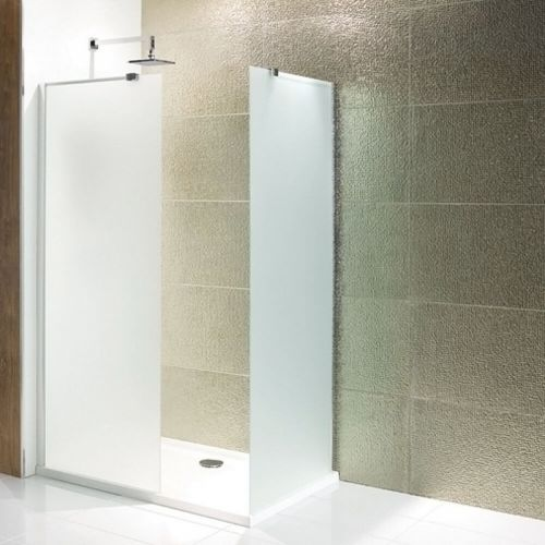 Volente Frosted 300mm Walk In Wetroom Panel (13796)