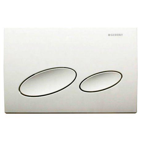 Geberit Kappa20 Dual Flush Plate - White 115.228.11.1 (13831)