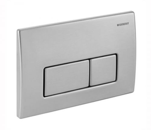 Geberit Kappa50 Dual Flush Plate - Brushed Stainless Steel 115.258.00.1 (13832)