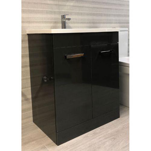 Lillian 700mm Anthracite 2 Door Floor Standing Vanity & Basin (13850)