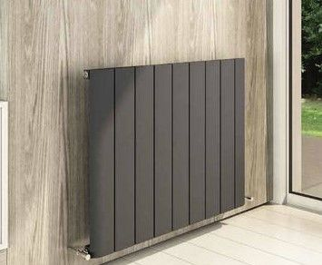 Peretti 600 x 660mm Aluminium Radiator - Matt Anthracite - 13881