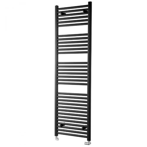 Essentials 1800 x 600mm Straight Heated Towel Radiator - Black (13949)