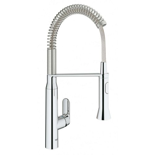 Grohe K7 Foot Control One Handle Kitchen Tap & Pull-Out Spray - 8893