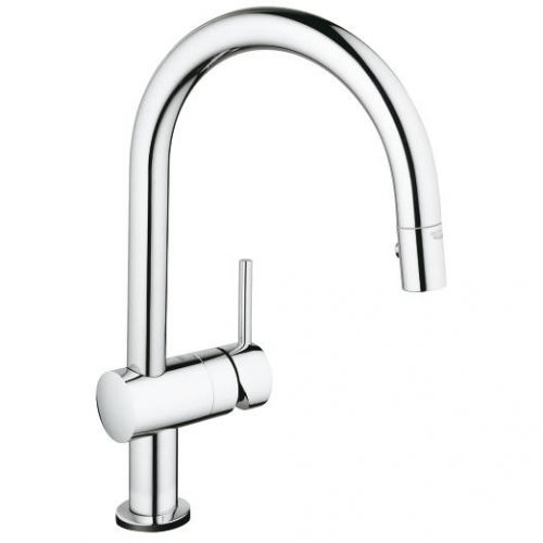 Grohe Minta Touch Electronic Single Lever C-Spout Kitchen Tap & Pull-Out Spray - 8789