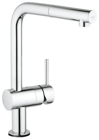 Grohe Minta Touch Electronic Single Lever L-Spout Kitchen Tap & Pull-Out Spray - 8790