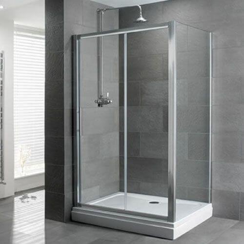 Sliding Shower Door with Side Panel