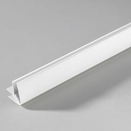 Grosfillex Attitude Ceiling End Trim 8mm x 2.6m (White) - 11862