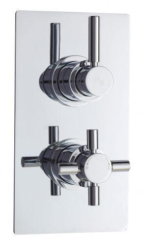Hudson Reed Tec Pura Twin Thermostatic Shower Valve A3003V (15557)