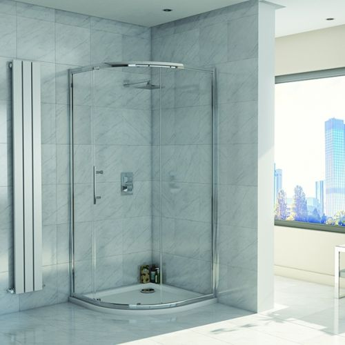 Kiimat Eight² 1200 x 900mm Single Door Offset Quadrant Shower Enclosure (19299)