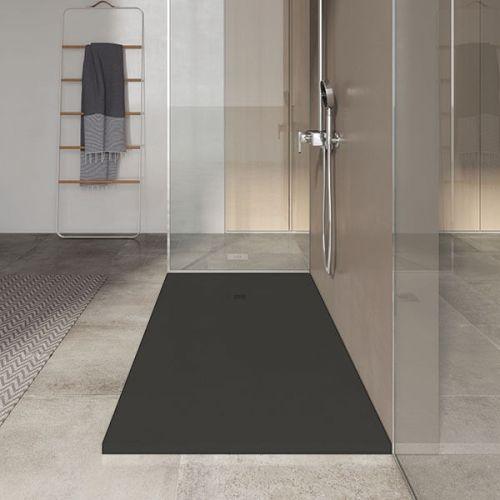 Poalgi 1300 x 800mm Slate Wetroom Tray & Waste - Antracita - 8010