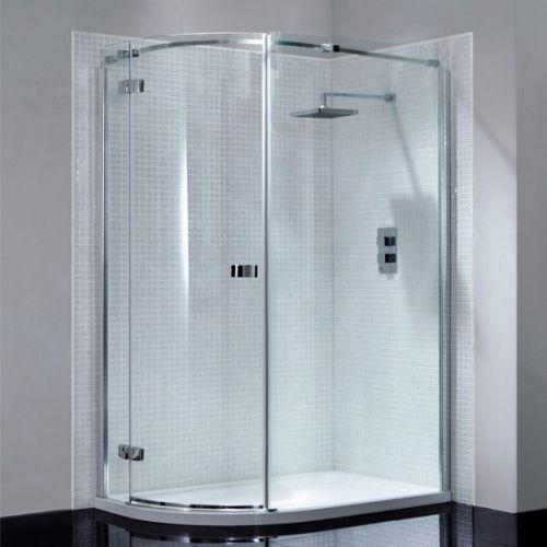 April Prestige Frameless 1200 x 800mm Single Door Offset Quadrant Shower Enclosure - LH (14288)