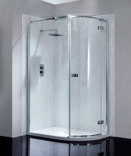 April Prestige Frameless 1200 x 900mm Single Door Offset Quadrant Shower Enclosure - RH (14290)