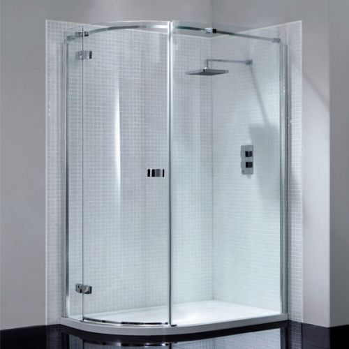 April Prestige Frameless 1200 x 900mm Single Door Offset Quadrant Shower Enclosure - LH (14278)