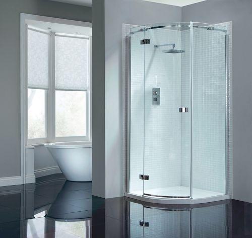 April Prestige Frameless 900mm Single Door Quadrant Shower Enclosure - Left Hand (14272)