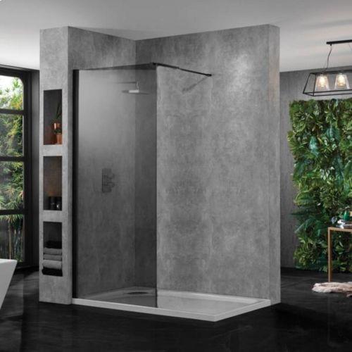 Aquadart 10 800mm Wetroom Panel - Smoked Glass (18679)