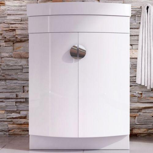 Arc 600mm Floorstanding Vanity Unit & Basin - Gloss White (10281)