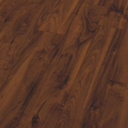 American Walnut Gloss 12mm Laminate Wooden Flooring - 1.614sqm per pack -13982
