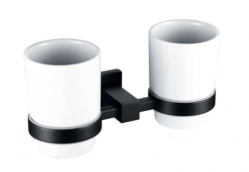 ER Noir Tumbler Holder & Double Cup - Black (14906)
