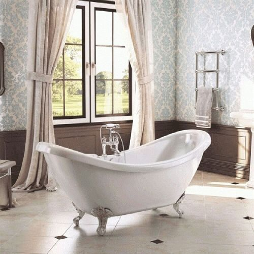 Traditional English Balmoral Double Ended Slipper Bath  (15472)