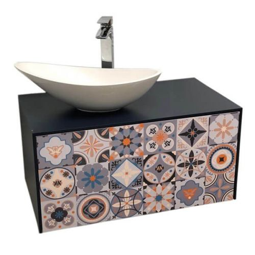 Josef Martin Vario 750mm Wall Hung Vanity Unit - Basalt with Morocco Face (17361)