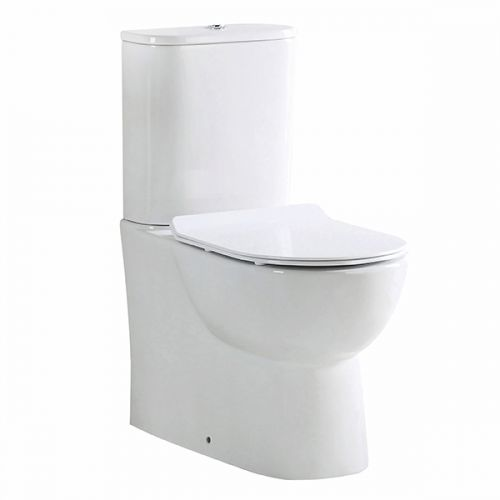 Belini Rimless Close Coupled Fully Back to Wall Toilet & Soft Close Seat (19528)