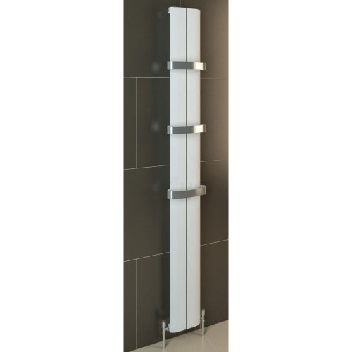 Berlini 1800 x 185mm Aluminium Radiator - Matt White - 12723