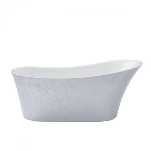 Heritage Holywell Acrylic Single Ended Slipper Bath - Stainless Steel Effect  (7550)