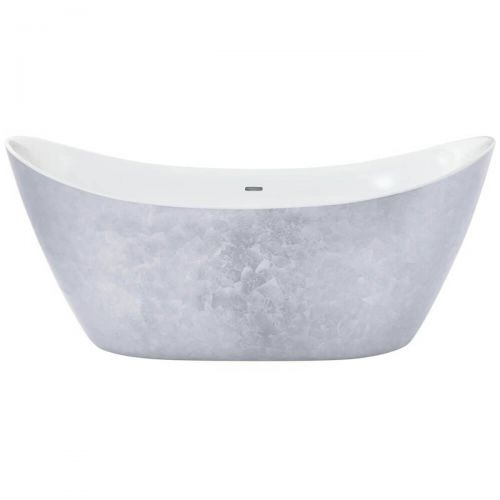 Heritage Hylton Acrylic Double Ended Slipper Bath - Stainless Steel Effect  (7553)