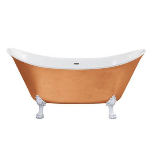 Heritage Lyddington Acrylic Double Ended Slipper Bath with Feet  - Copper Effect (8239)