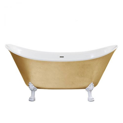 Heritage Lyddington Acrylic Double Ended Slipper Bath with Feet  - Gold Effect (8240)