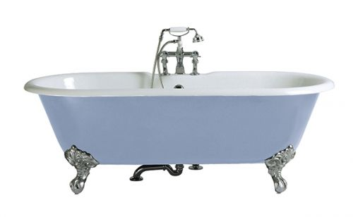 Heritage Buckingham 2 Tap Hole Cast Iron Doubled Ended Bath with Chrome Imperial Bath Feet  (17487)