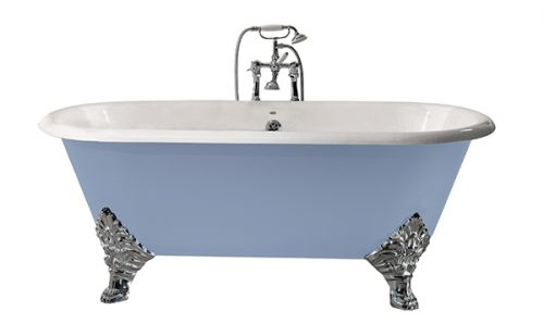 Heritage Grand Buckingham 0 Tap Hole Cast Iron Doubled Ended Bath with Chrome Grand Imperial Bath Feet  (17493)